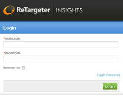 Screenshot of ReTargeter Insights
