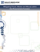 Mitigating Fraud, Waste and Misuse in the Procurement Function