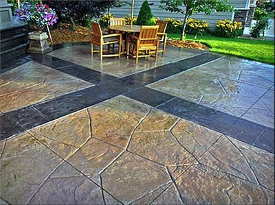 Stamped Concrete Patio Ideas Backyards