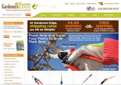 Gardener's Edge website for Home Garden Tools & Supplies