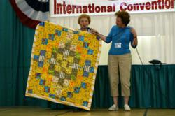 Donating quilts is one way that FMCA gives back to communities that host its motorhome conventions.