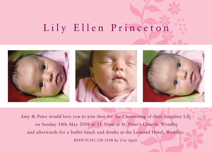 25 Off a Range of Christening Invitations Birth Announcement – Birth Announcements and Thank You Cards
