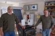 Serge Tognelli of Colchester, Vermont, winner of a Free Regency Wood Stove  Pictured with Houseneeds.com's Wayne Fisher.