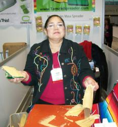 TAMALE MAKERS ARE REPORTING SPREADING A DOZEN A MINUTE WITH THE TAMALE SPREADER.