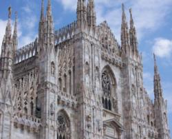 Milan Cathedral, Duomo in Italian, It is the largest Gothic cathedral in the world.