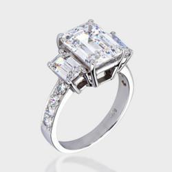 cubic zirconia engagement ring