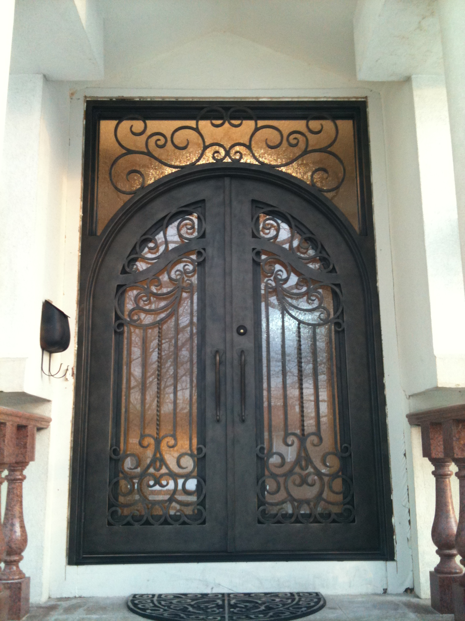 Modern wooden front doors pompano beach - Iron Front Doors This Incredible Wrought Iron Front Door With