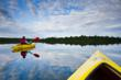 Kayaking on one of Benzie County's Inland Lakes  Photo credit: Drew Smith