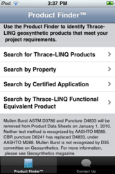 Thrace-LINQ Product Finder™ mobile application
