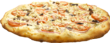 The Greek: Olives, crisp red onion, tomatoes, feta and mozzarella cheeses and oregano