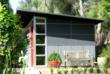 Studio Shed with Collins Block and Aluminum Siding
