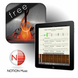 NOTION Music proudly presents Progression - Guitar Tab Editor for iPad.