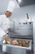 FRIMA's VarioCooking Center reduces the amount of oil needed when cooking steaks
