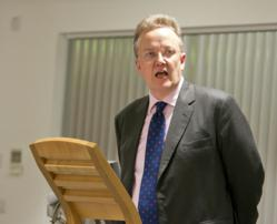 Nick Hardwick delivering public lecture