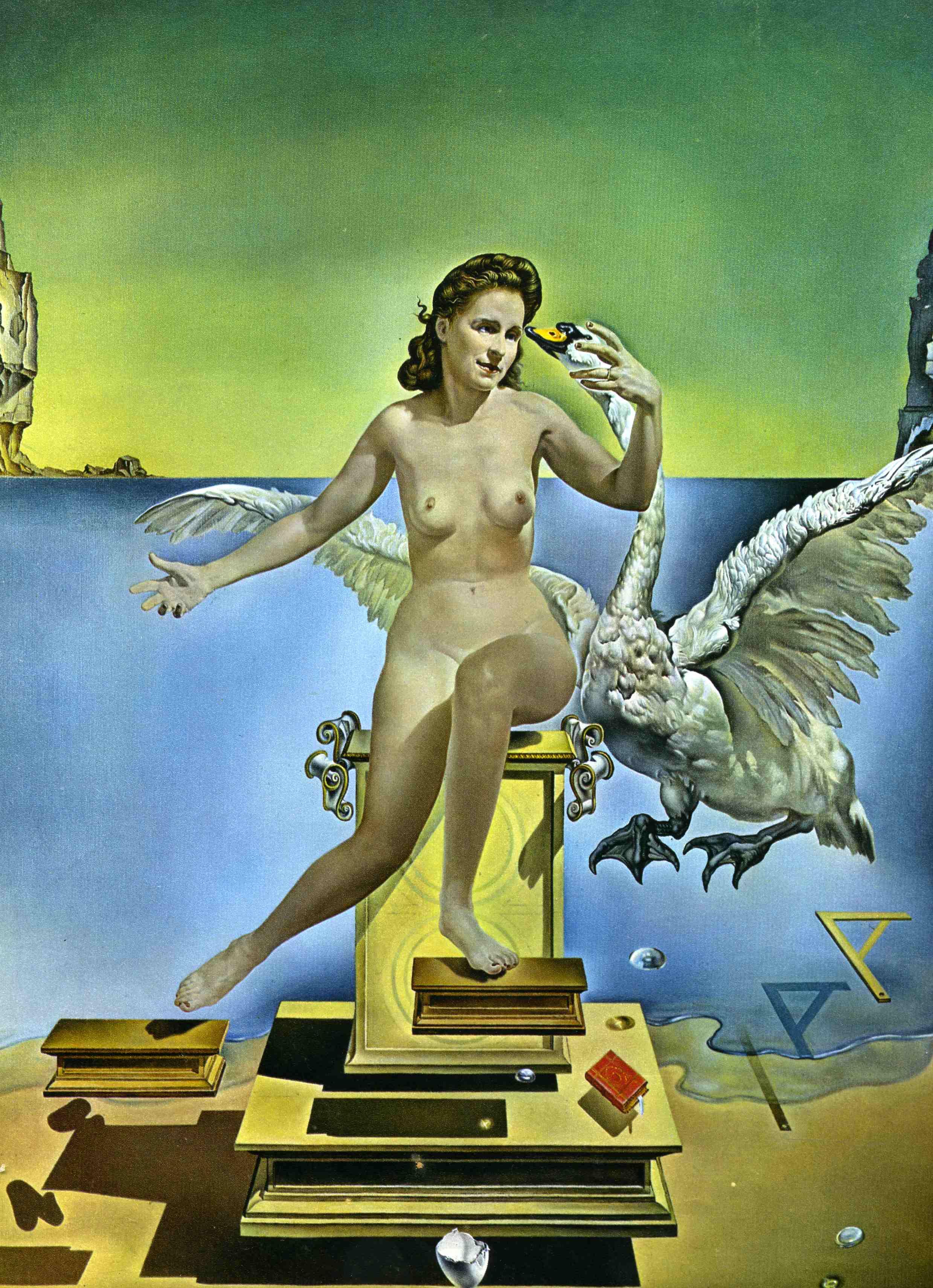 Salvador Dali Painting Gala Nude