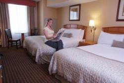 Corporate travelers will find clean, comfortable accommodations at Ramada Tropics in Des Moines.
