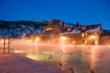 Evening is a magical time for a soak in the Glenwood Hot Springs Pool.