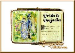 Jane Austen, Pride and Prejudice, Elizabeth Bennet, Mr. Darcy, Pemberley Limoges box by Beauchamp Limoges