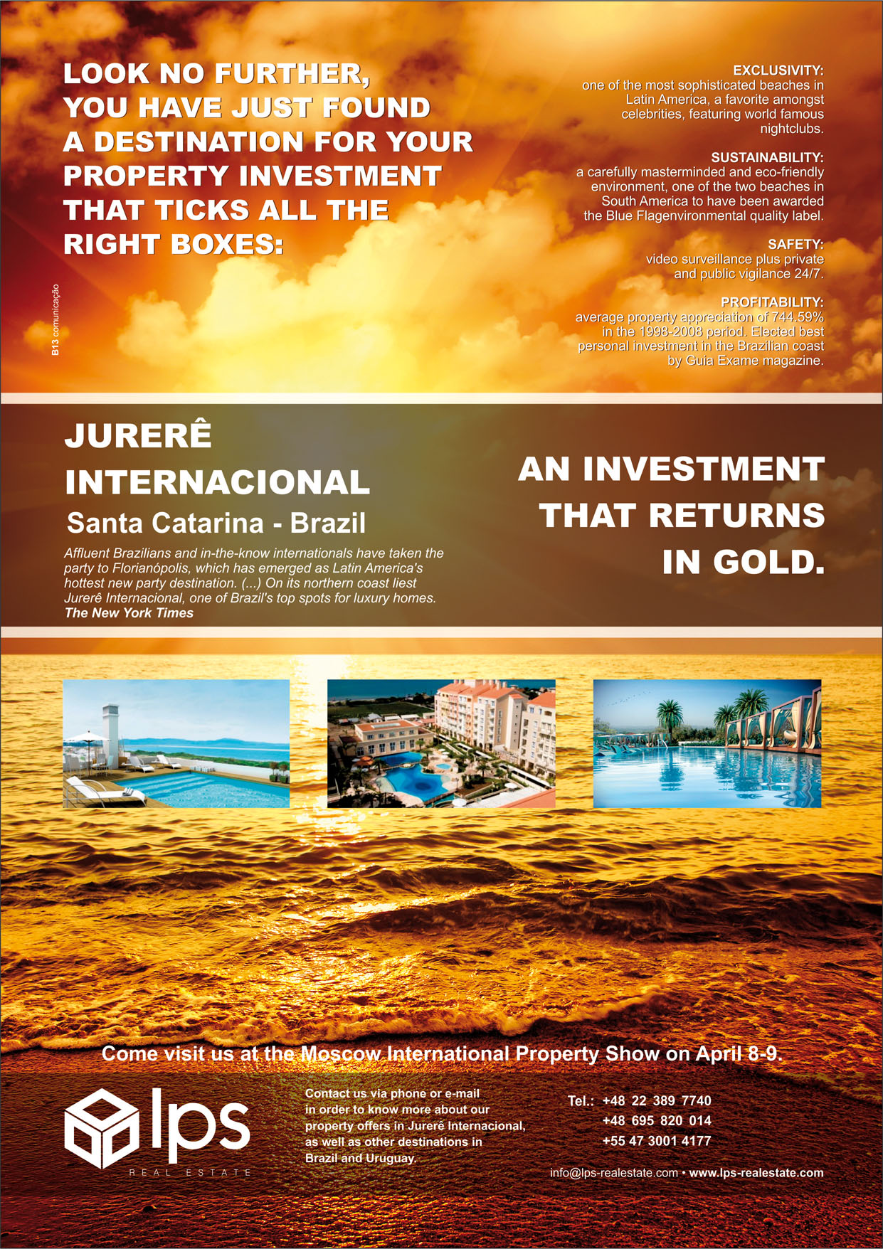International property magazine - Moscow International Property Showthe English Version Of Lps Real Estate S Advert For International Residence The Largest Real Estate Magazine In Russia