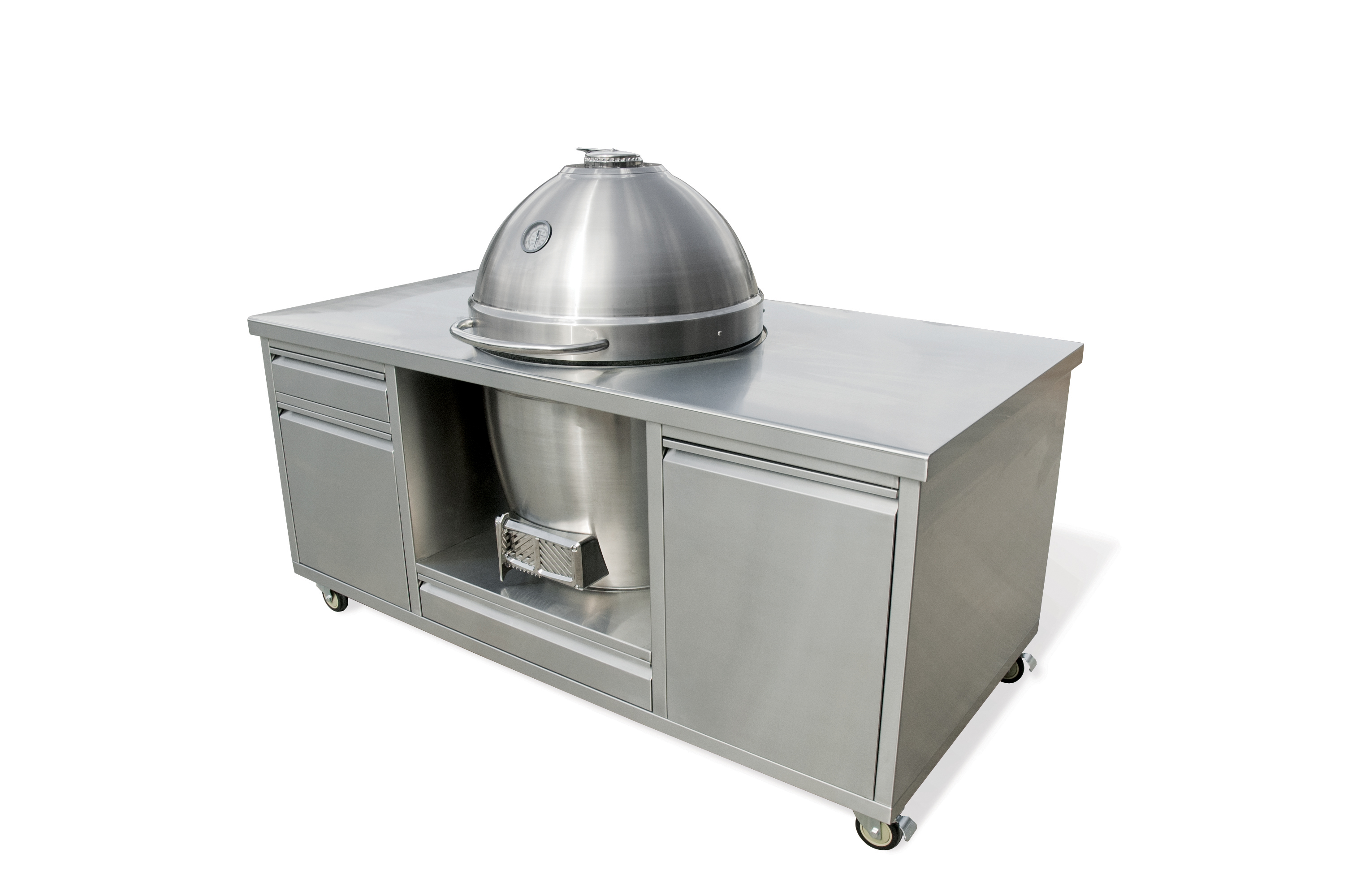 Pro Joe With Grill TableThe Pro Joe Grill Table Has Three Accessory Drawers  And Charcoal Storage Cabinet (Grill Table Optional) .