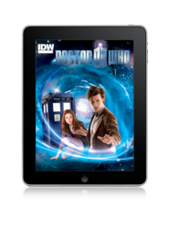 Doctor Who comics cover on the iPad.
