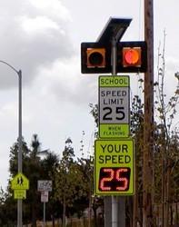 radar speed sign in school zone