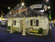 Composite materials make up the interior and exterior of Ashland's composite house on display at the JEC Composites Show in Paris.