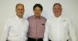 Peter Barry (President Elect), Roberto Bauer (WEG S.A. International Sales Director), and David Pipes (President)