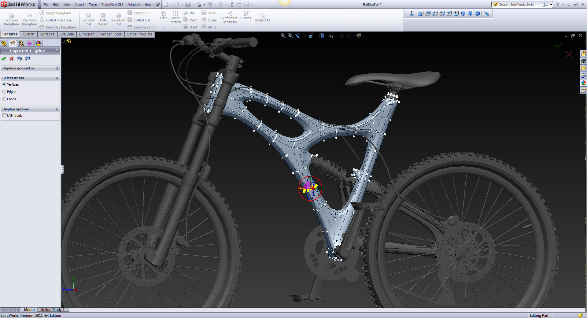 how to delete elements in solidworks