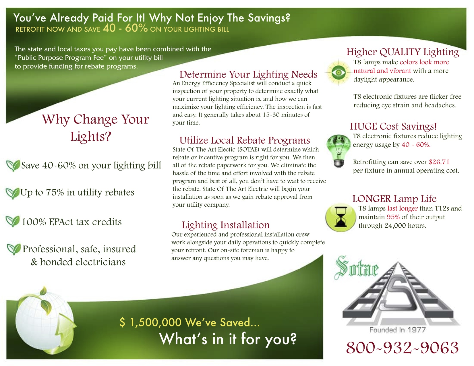 SRS Realty Saved $51,327.86 Per Year Through Lighting Retrofit
