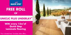 Free underlay with Quick-Step laminate flooring