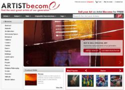 Artist Become (ArtistBe.com): new website for artists to share and sell art.