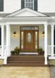 Flowing Avonlea decorative glass design in a Therma-Tru fiberglass entryway system.