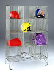 12 Compartment Wire Mesh Locker by Action Storage