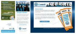 Campaign creative including the direct mail peice with the personalized landing web page