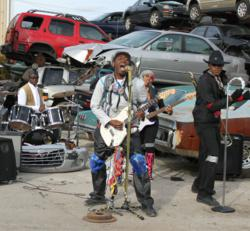"""The band DRAGONEYESEVEN on location at their video shoot for their new single, """"Cool All Day."""""""