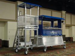 AAE DONKEY Portable Press Box with Video Tower Attachment