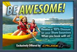 gI 60558 Shore Excursion Banner New Promotion Gives Cruise Vacationers Discounted Shore Excursions on their Cruise