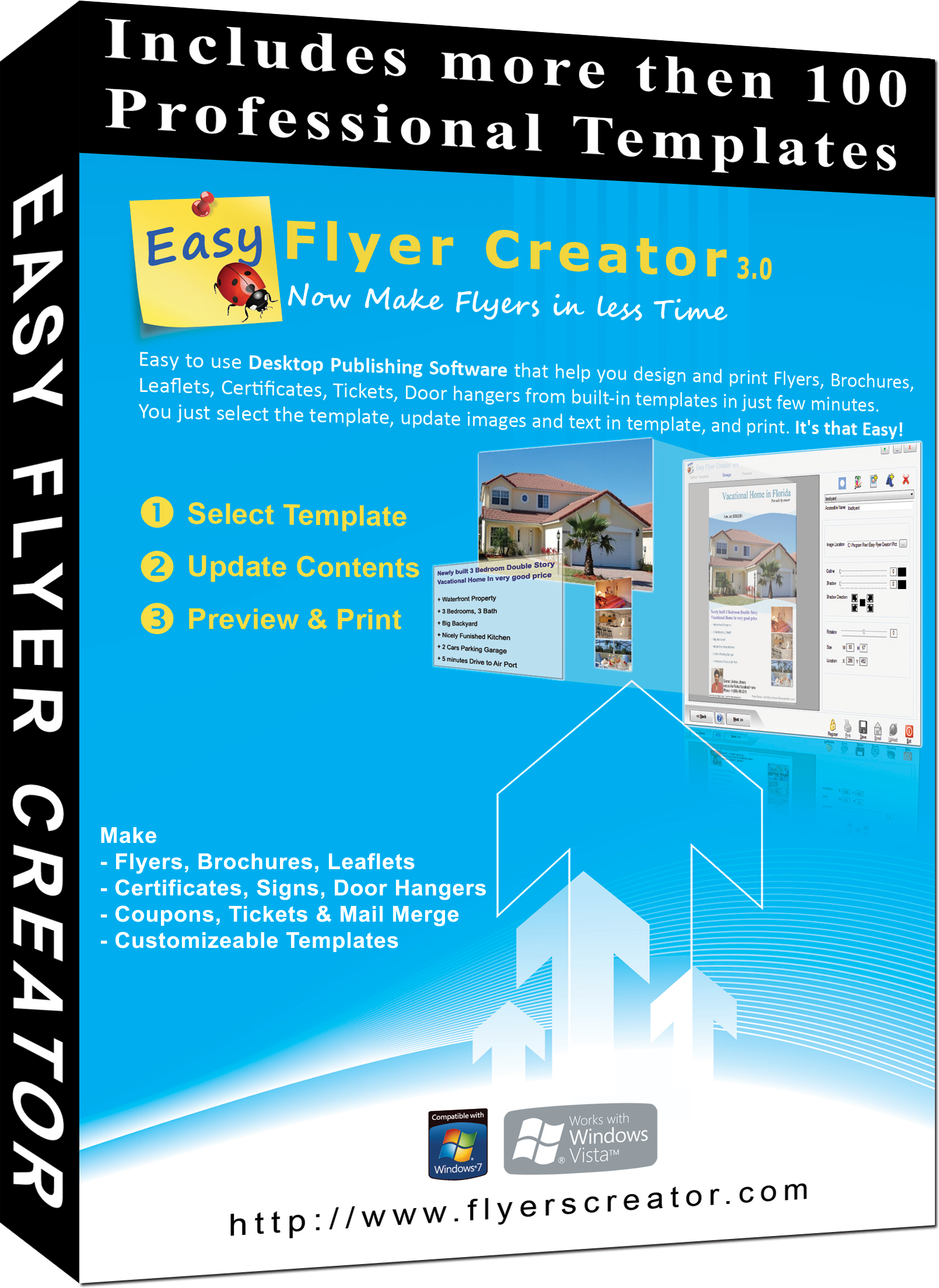 Easy flyer creator 3 0 to design business flyers for Brochure templates maker