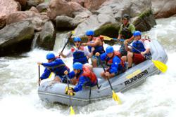 Boy Scout whitewater merit badge clinics.