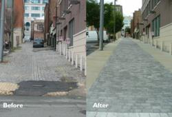 5th Street Richmond, VA Green Alley Before and After