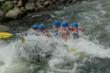 Colorado whitewater rafting through Zume Flume in Browns Canyon on the Arkansas River.