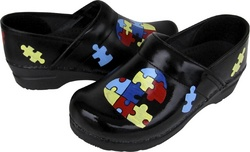 Autism Awareness Sanita Clog