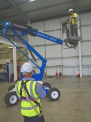 IPAF course afternoon session; cherry picker boom lift IPAF powered access training course