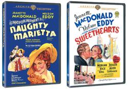 Naughty Marietta and Sweethearts Starring Jeanette MacDonald and Nelson Eddy