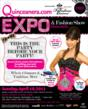 Flyer for the Quinceanera.com Expo and Fashion Show to be held on Sunday, April 10, 2011.