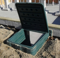 The Turtl crawl space entry system installed.