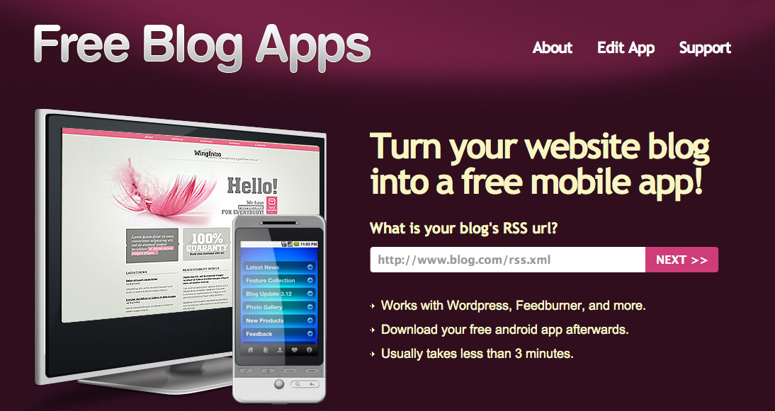 Free Blog App Maker Create Your Own Mobile Phone Or