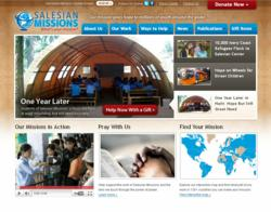 SalesianMissions.org screen shot