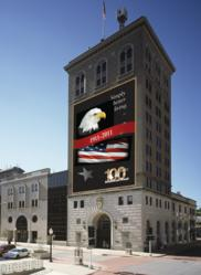 American Trust 100th Anniversary East Side Banner